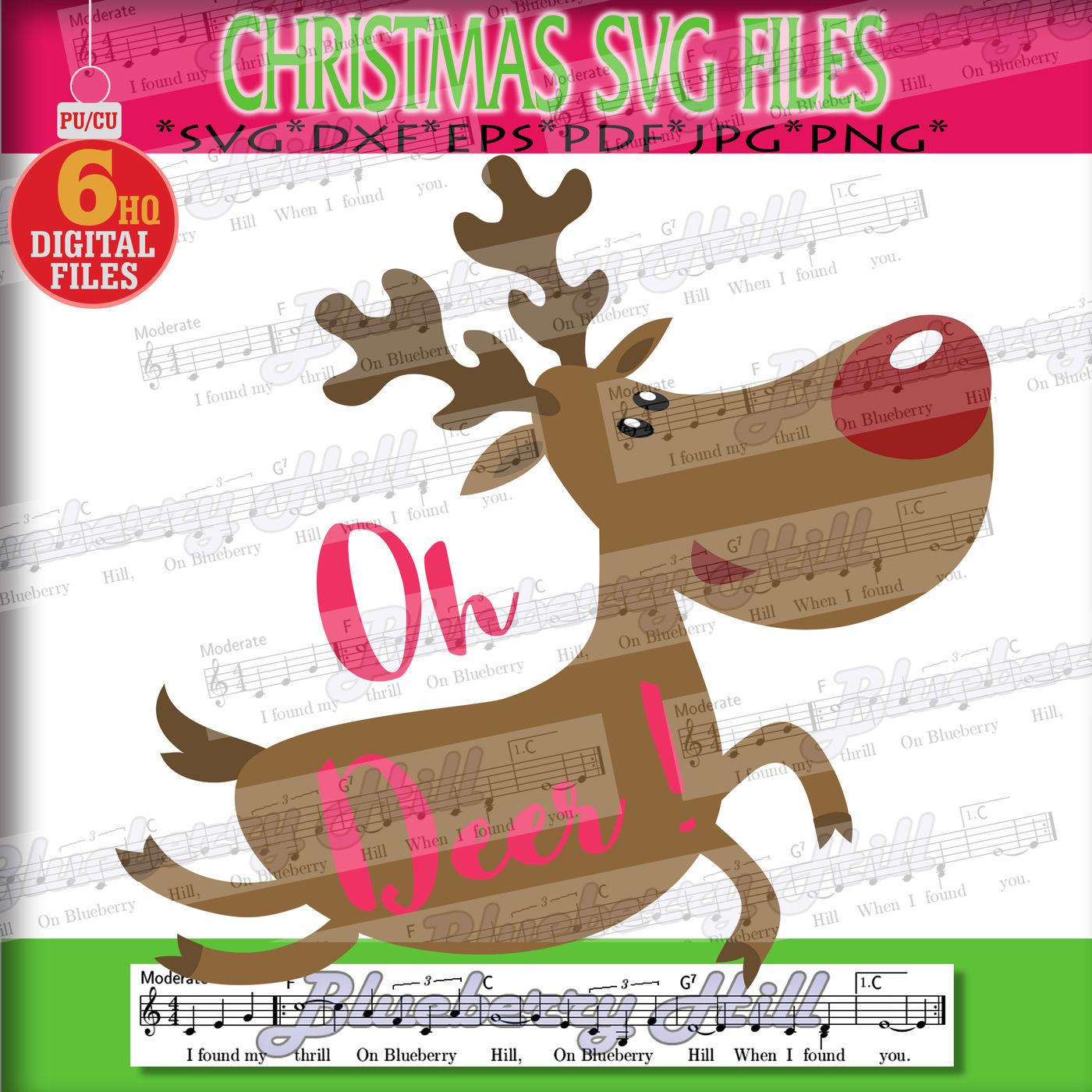 Deer Svg Xmas Deer Svg Christmas Deer Svg Christmas Svg