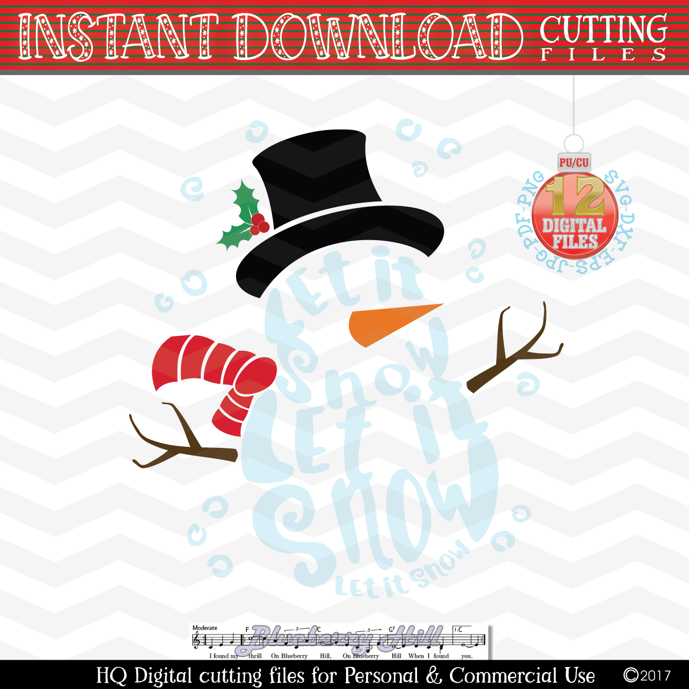 Snowman Svg Let It Snow Svg Christmas Svg Snow Svg Xmas