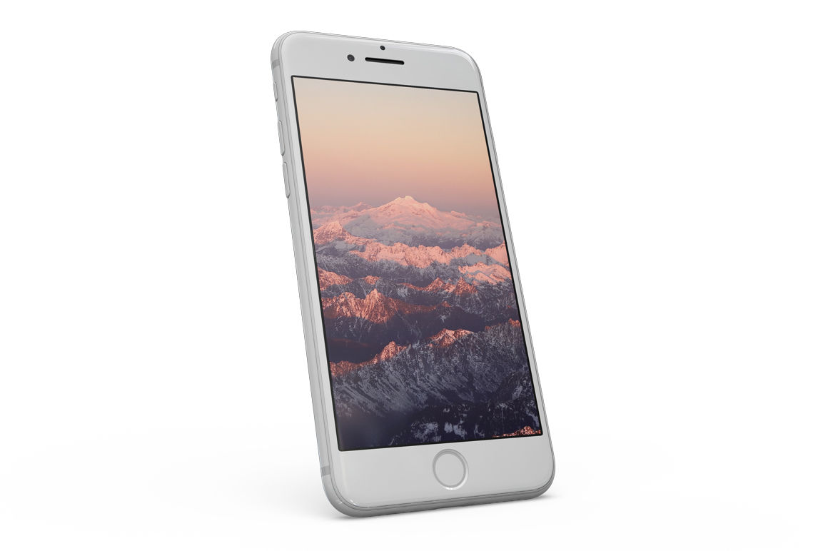 White Iphone 8 Mockup Psd