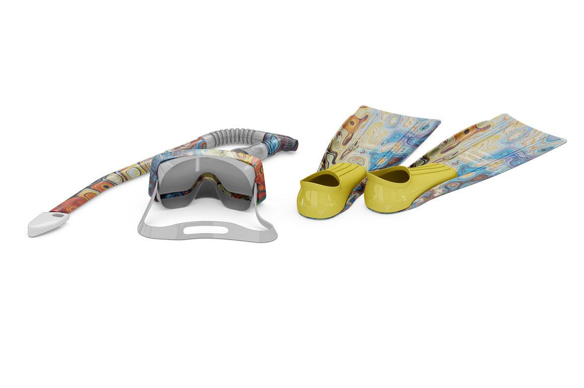 ed9c03191eb Swim Gear Equipment Mockup By Mock Up Store | TheHungryJPEG.com