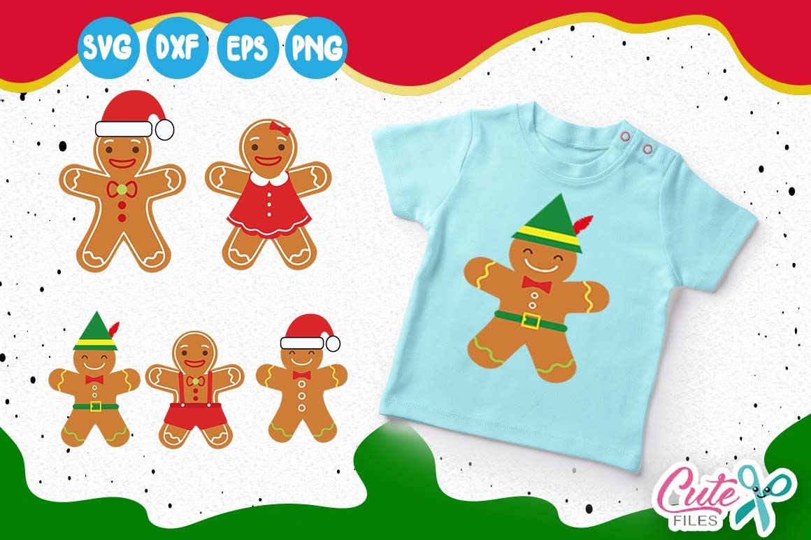 Ginger Bread Man And Girl Svg Man Made Of Dough Cut File