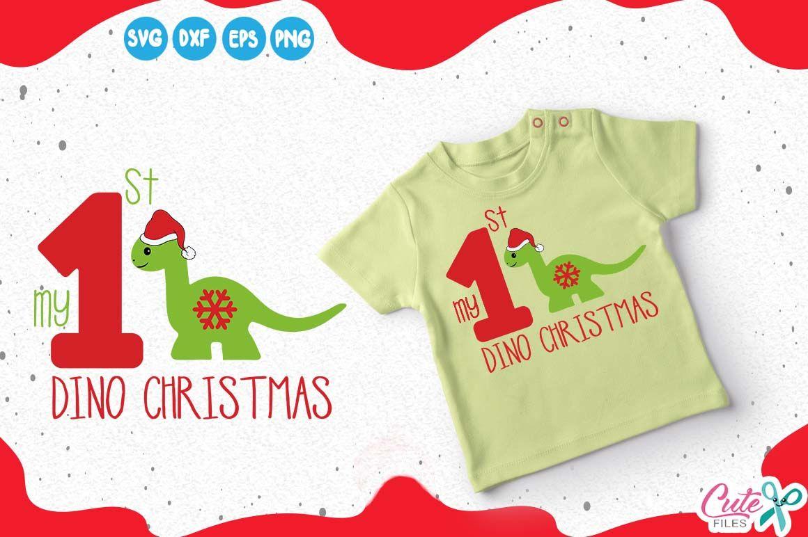 1st Christmas Dino Christmas Svg Disonaur Cut File Dino Svg