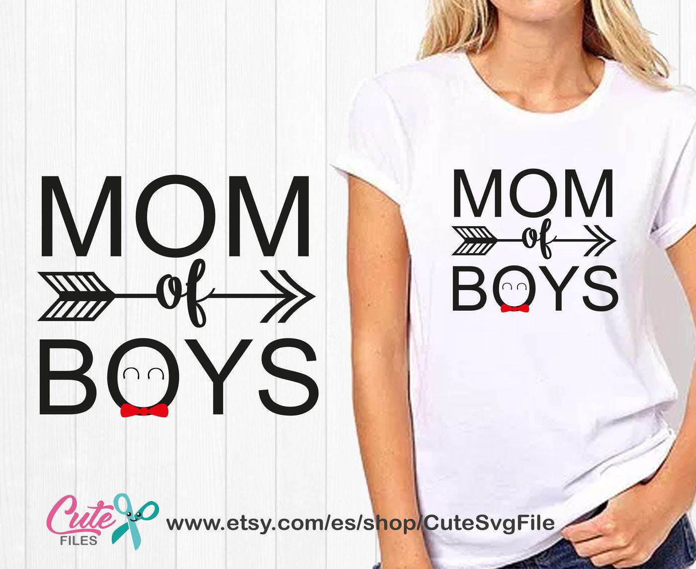 Mom Of Boys Svg Mom Life Family Bear Mama Bear Boy Mom Mom