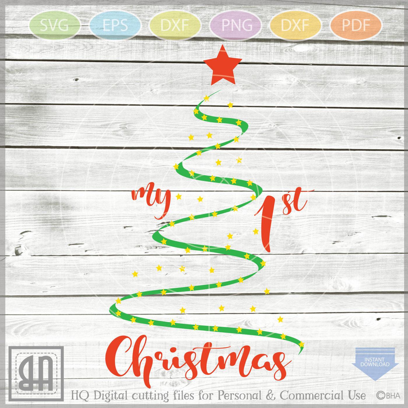 My First Christmas Svg Christmas Svg Baby S First Christmas