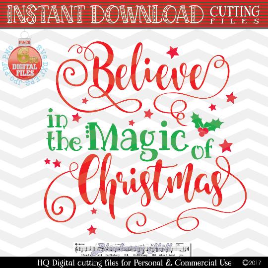 Believe Svg Christmas Svg Xmas Svg Christmas Magic Svg Svg
