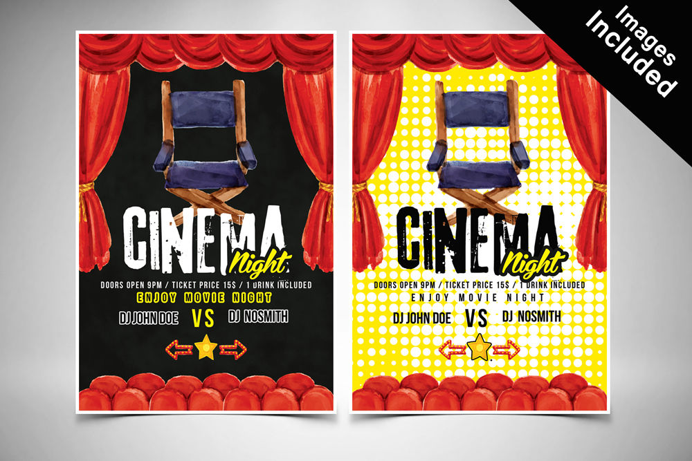 Movie Theater Flyer Templates By Designhub Thehungryjpeg Com