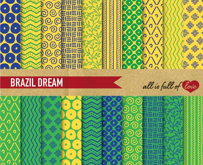Download Hand Draw Aqua Green Digital Paper Pack: Dream Collection SVG