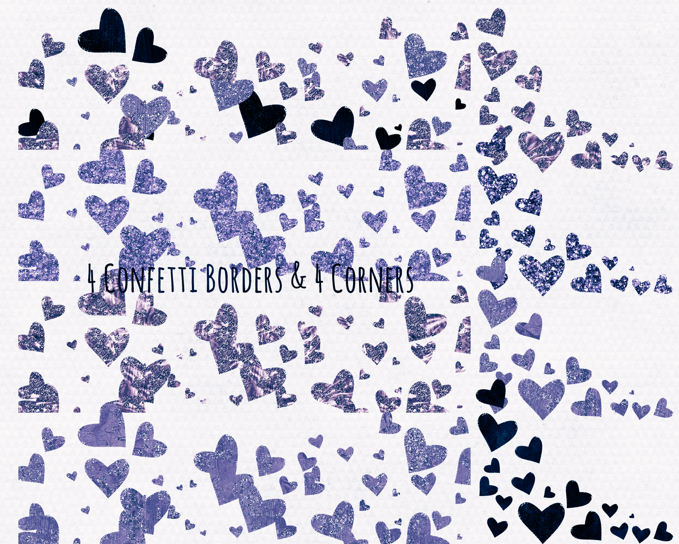 Navy Blue Teal Glamour Hearts Clipart Love Wedding Graphics By