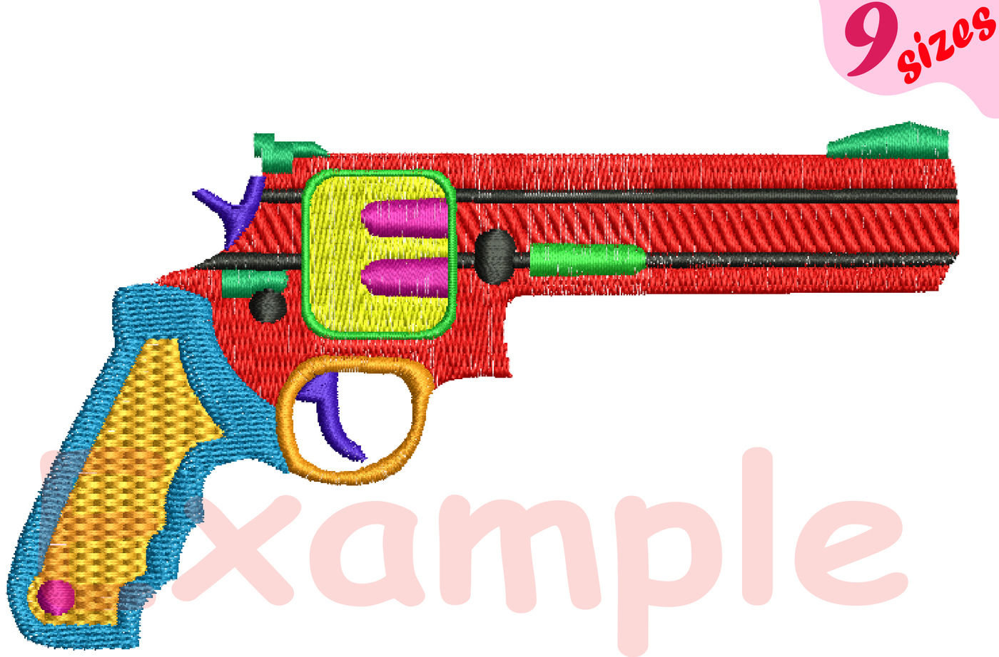 Guns Bullet Embroidery Design Machine Instant Download