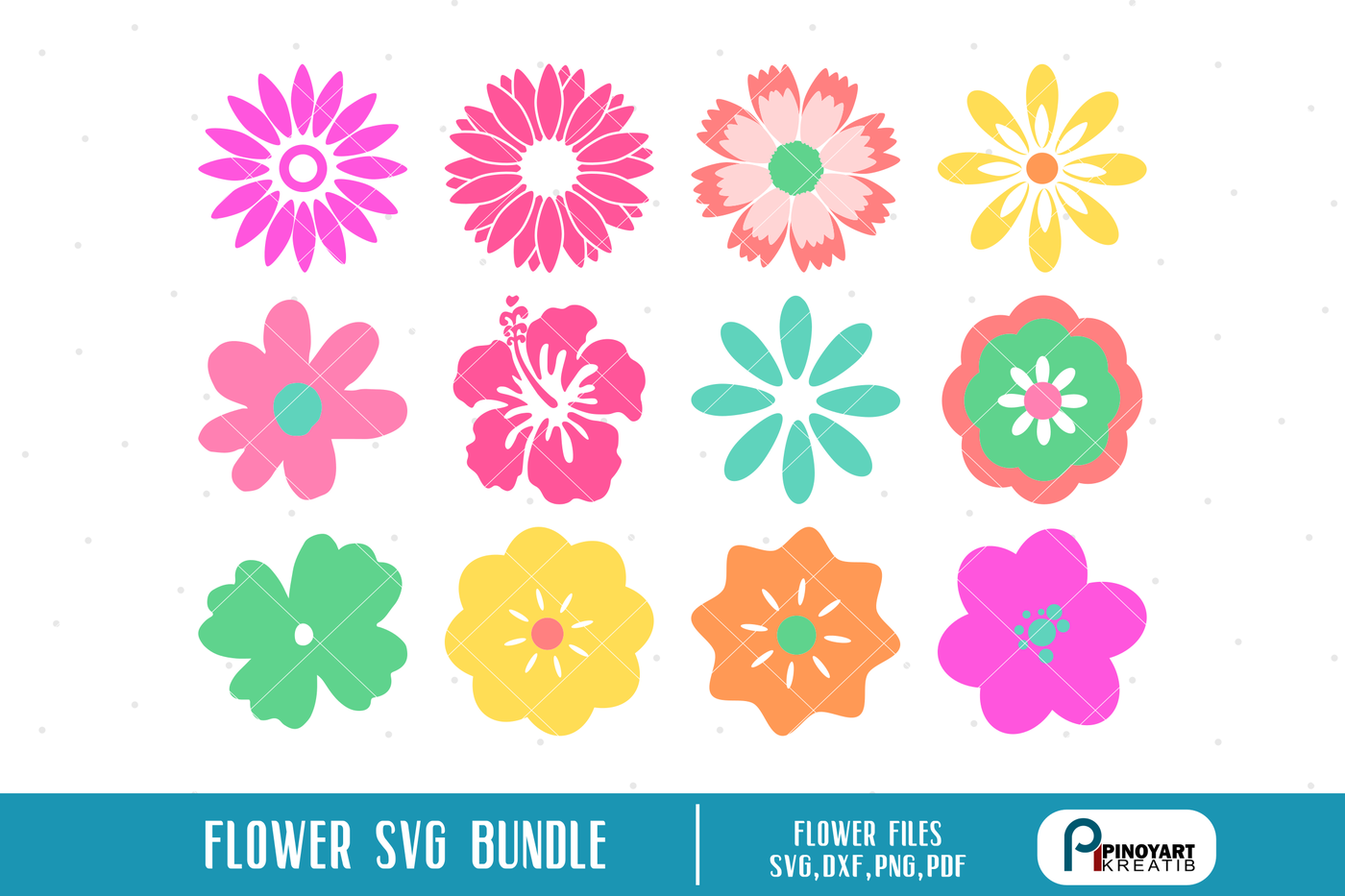 Flower Svg Flower Svg For Cricut Flower Svg Flower Svg File Flower