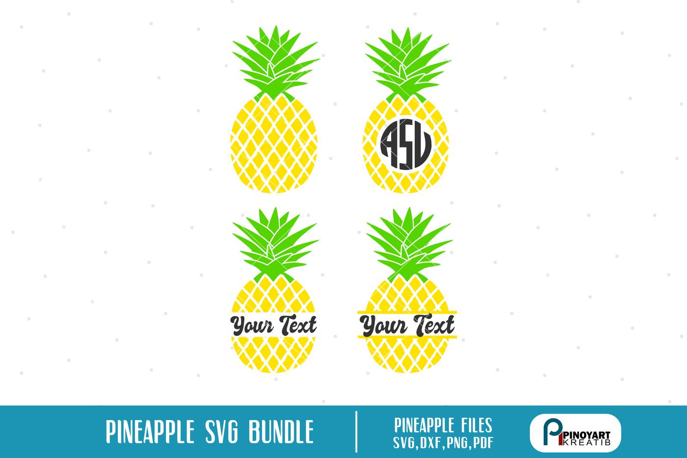 Cricut Pineapple Monogram Svg
