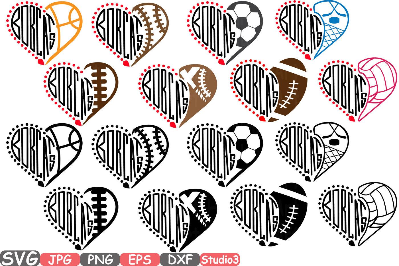 Bobcats Silhouette Svg Cutting Files Digital Clip Art Graphic