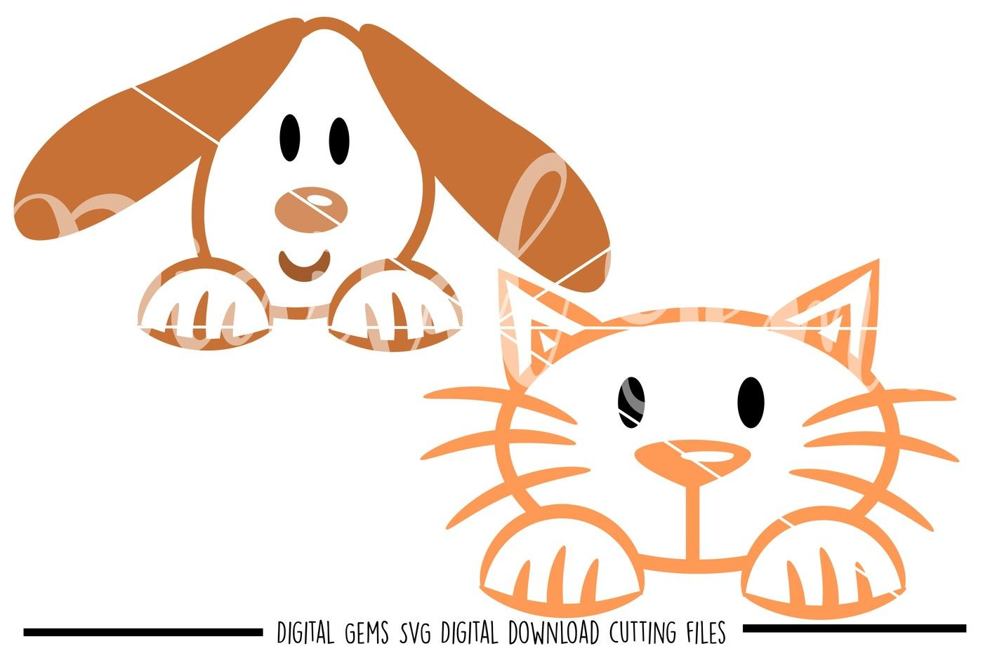 Cat And Dog Svg Dxf Eps Png Files By Digital Gems