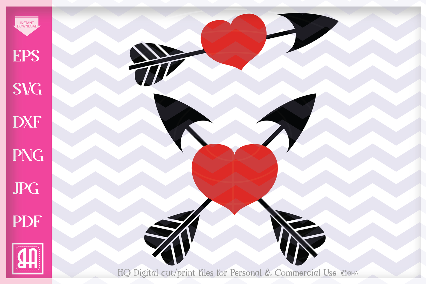 Arrow Heart Svg Valentine Svg 2 Valentine Hearts Arrow And