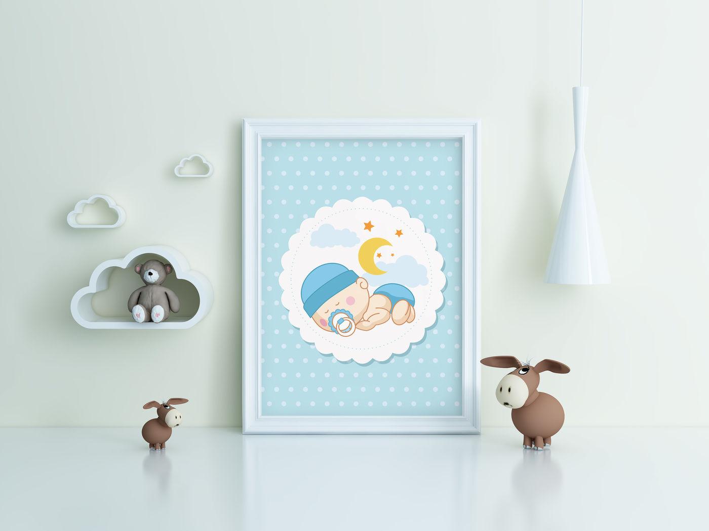 Kids Room Frame/poster Mockup toy By Milan Mockup ...