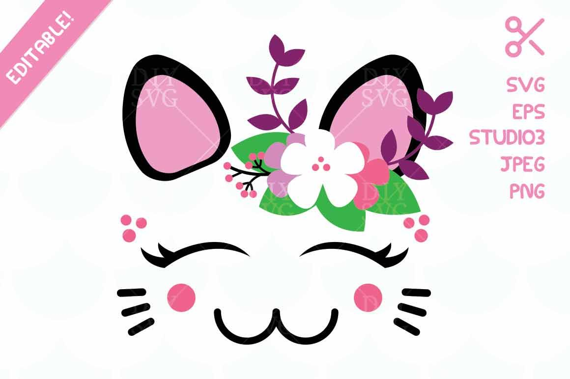 Cat Svg Eps Studio3 Jpg Png Cut File By Diysvg Thehungryjpeg Com
