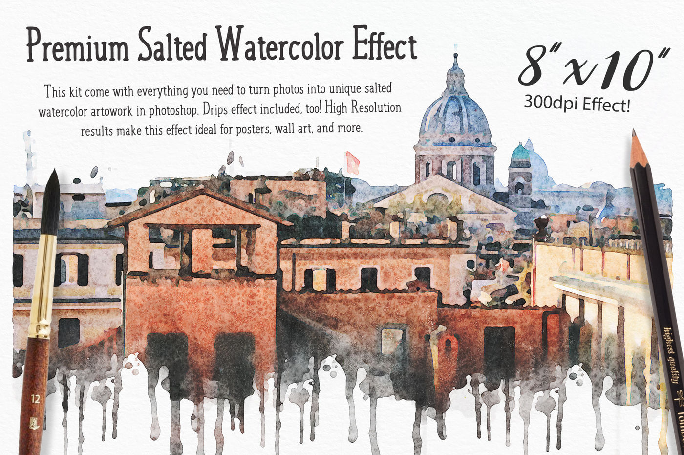 Watercolor Photo Effect Pro Salted Edition By Vectornomad