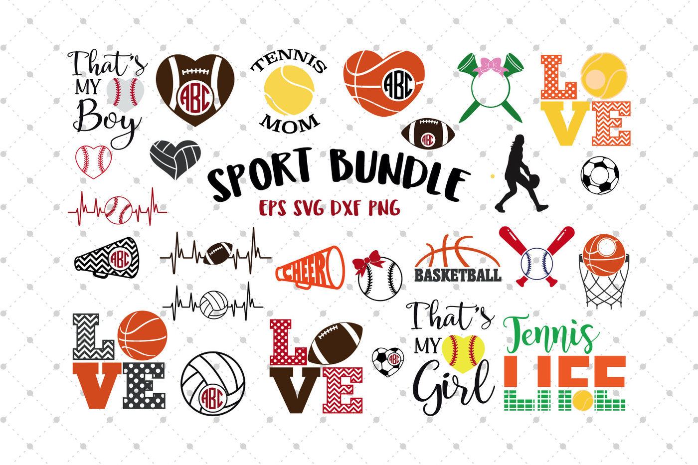 Sport Svg Bundle By Svg Cut Studio Thehungryjpeg Com