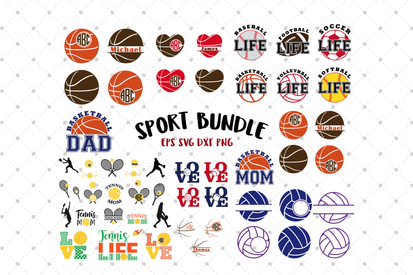 Sport Svg Bundle By Svg Cut Studio Thehungryjpeg Com