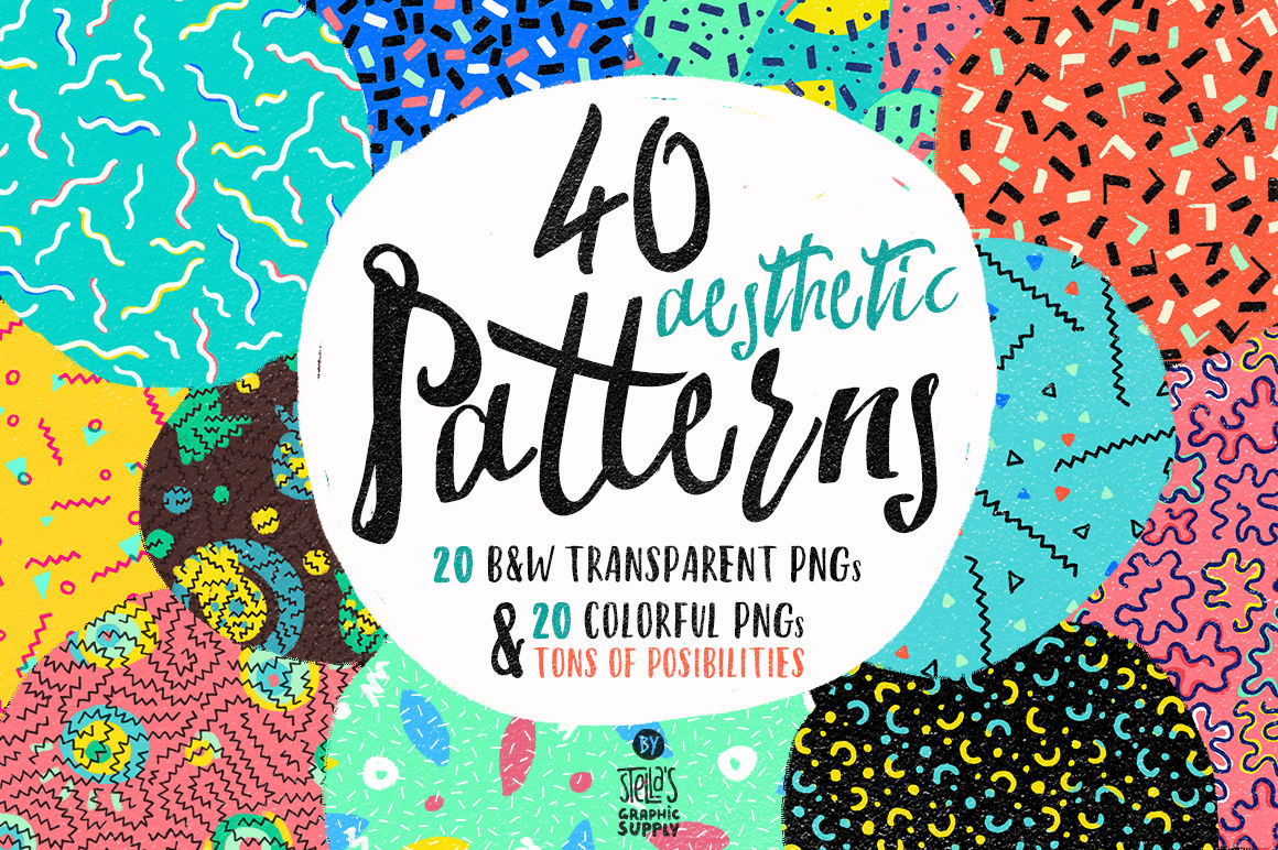 Aesthetic Patterns By Stella S Graphic Supply Thehungryjpeg Com