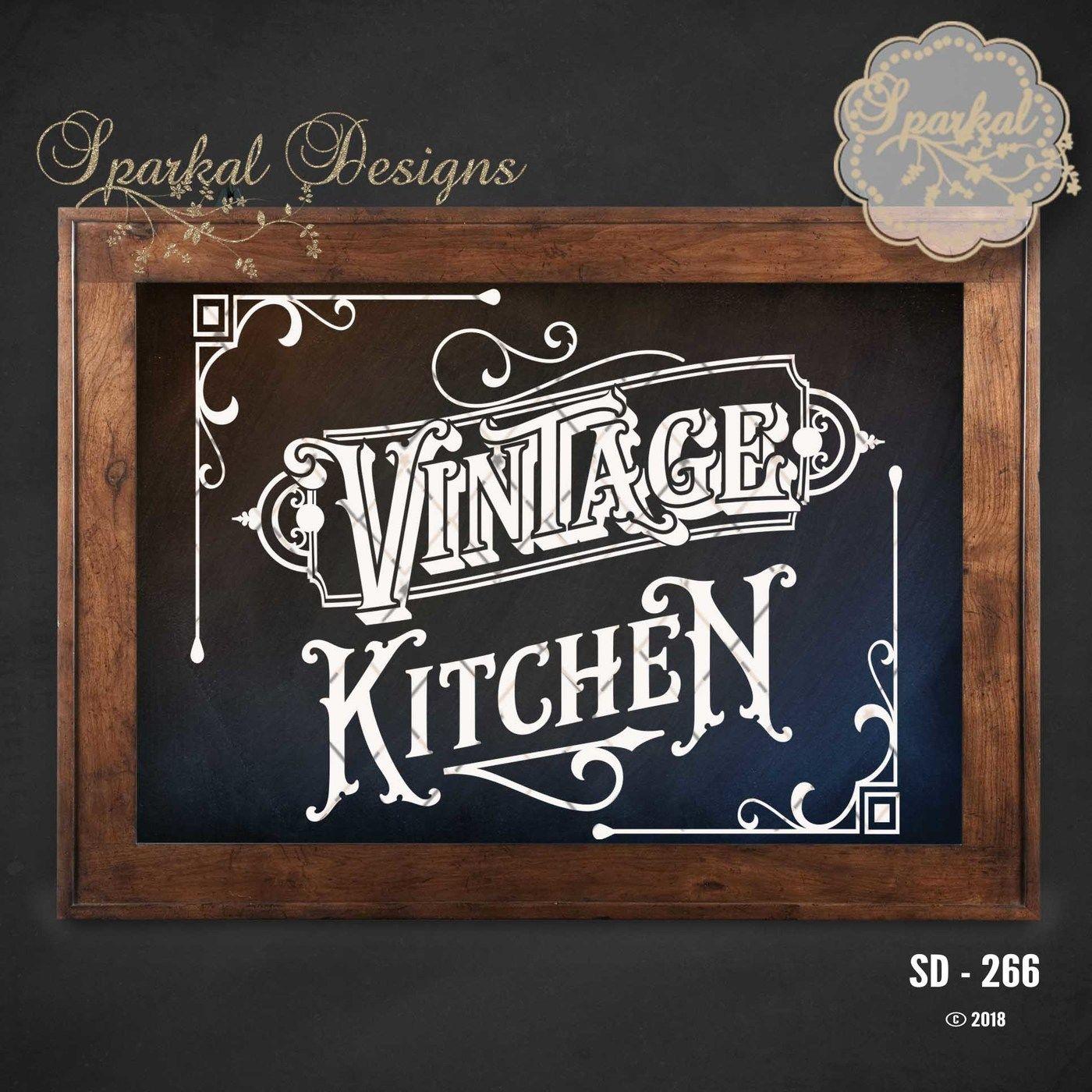 Vintage Kitchen Quote Svg Cutting Design By Sparkal ...
