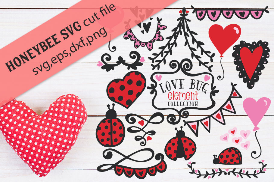 Love Bug Collection With Bonus Word Art By Honeybee Svg