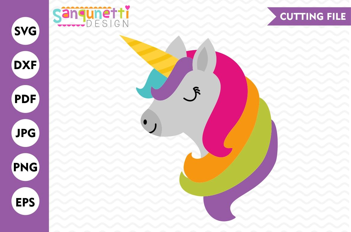 Unicorn Svg Unicorn Dxf Rainbow Svg Cutting File By Sanqunetti