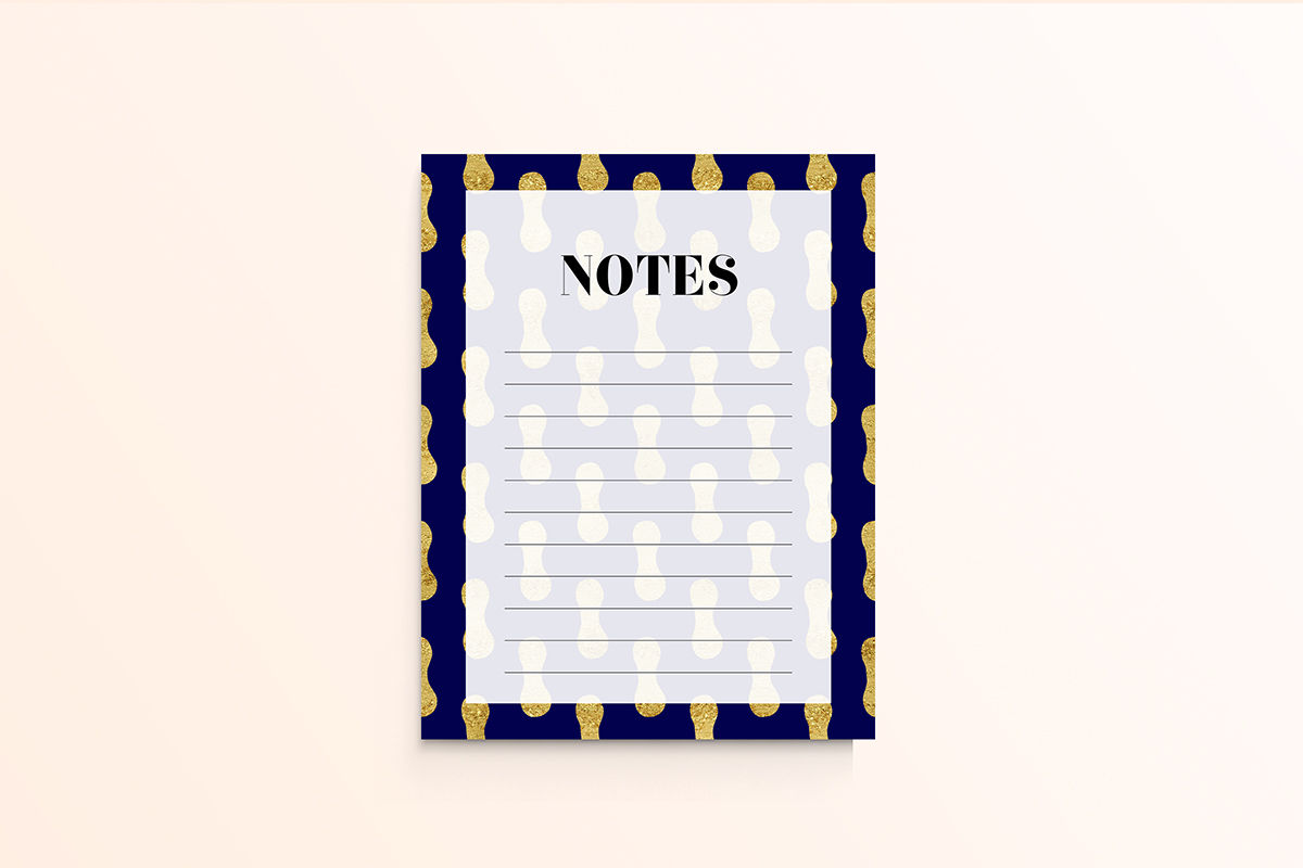 photograph about Printable Notes Page identified as Gold And Armed forces Printable Notes Webpage As a result of North Sea Studio