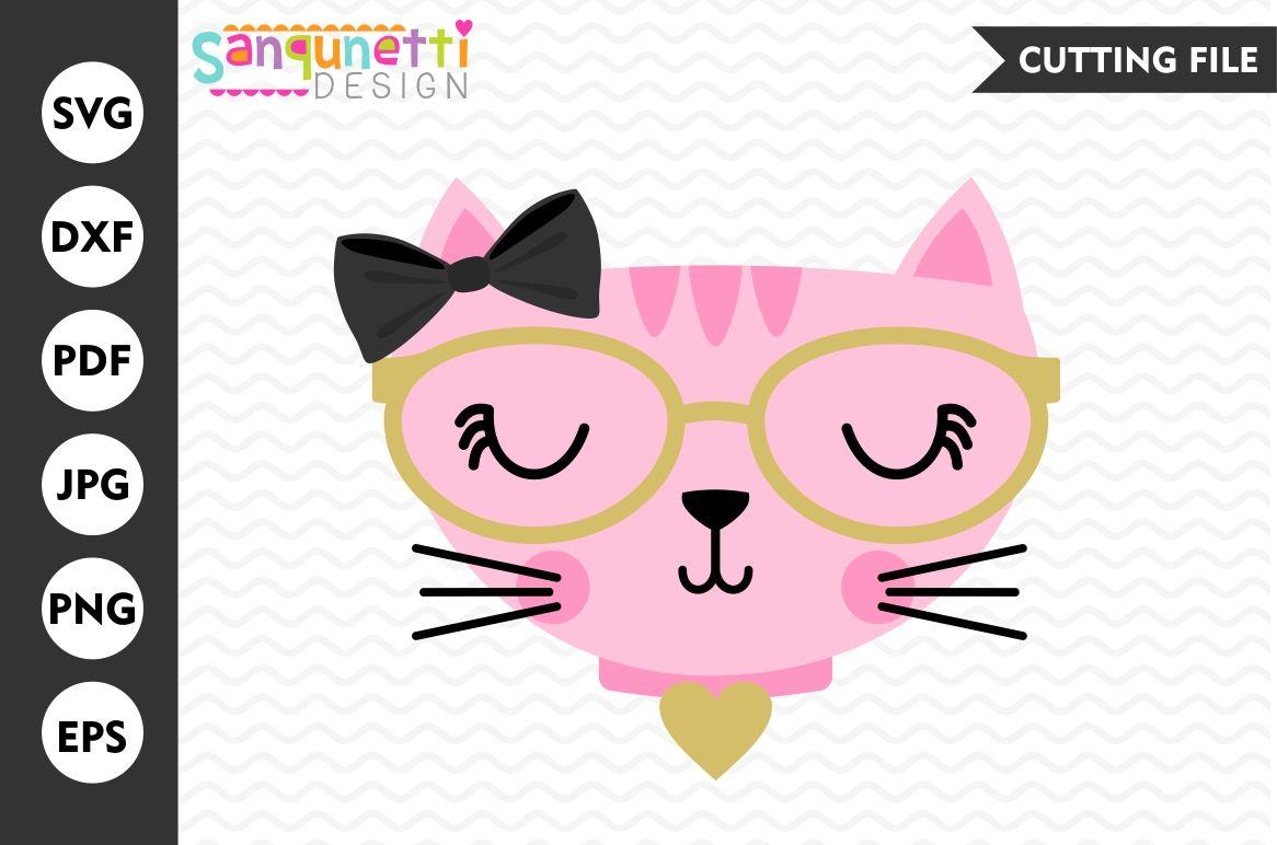Fancy Cat Svg Cat Svg Kitty Svg Cat Kitty Dxf By Sanqunetti