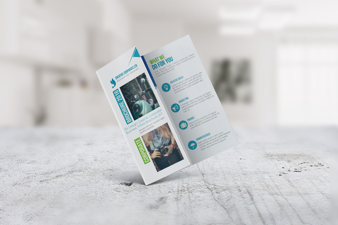 Corporate Trifold Brochure InDesign Template By Hemonto kumer