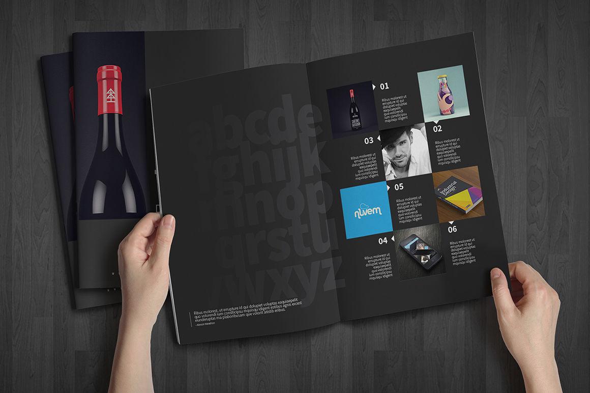 Blue Themed Portfolio Design Template - Flipsnack