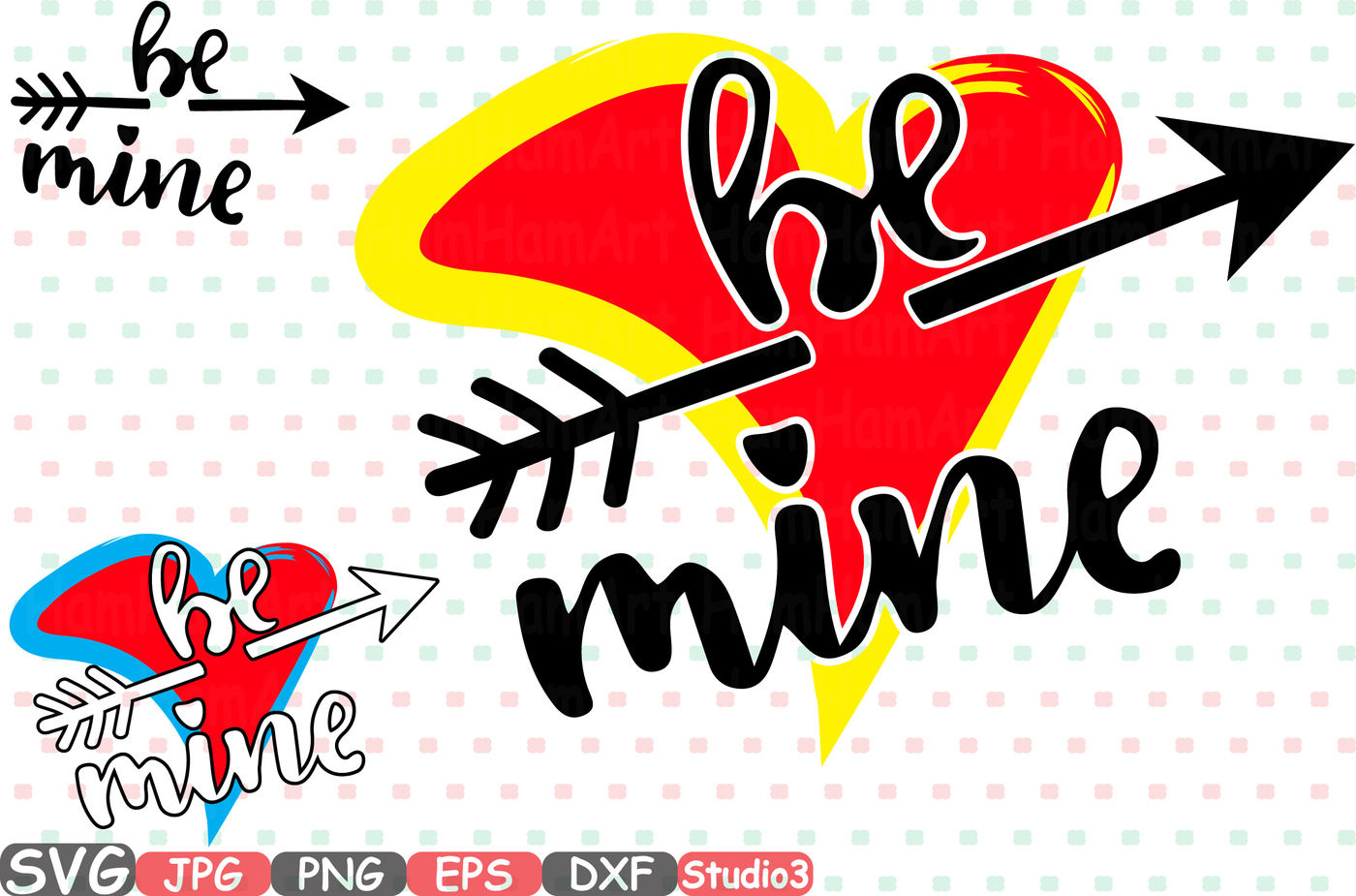 Be Mine Silhouette Svg Cutting Files Valentines Day Arrow 70sv By