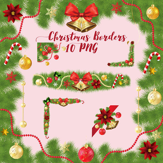 Christmas Border Clipart Png.Christmas Borders Clipart By Fantasy Cliparts
