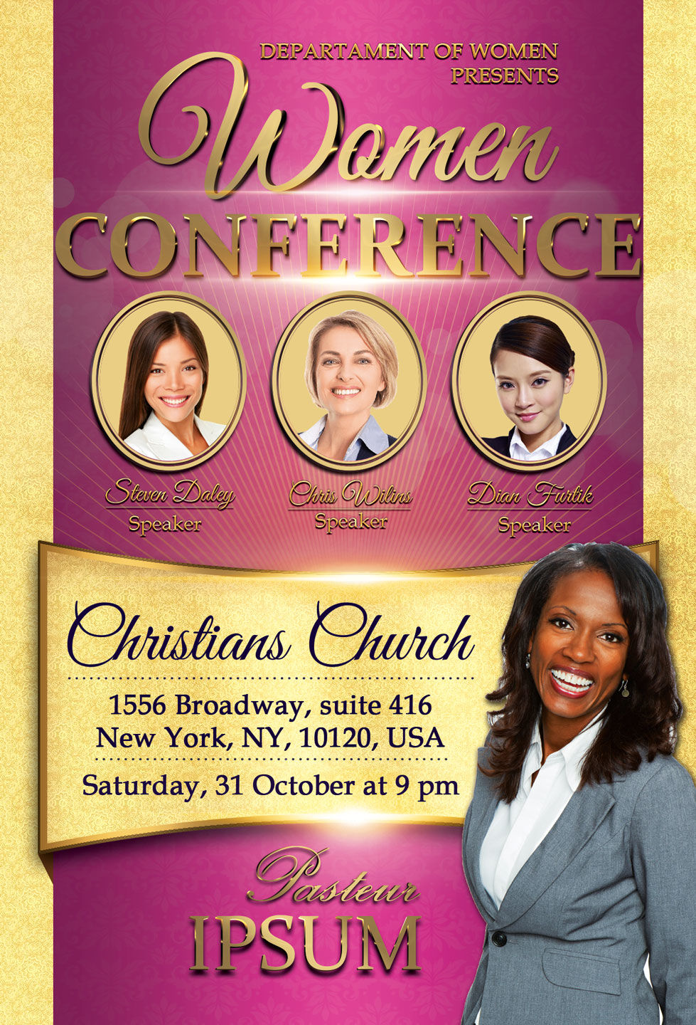 church women conference flyer by artolus