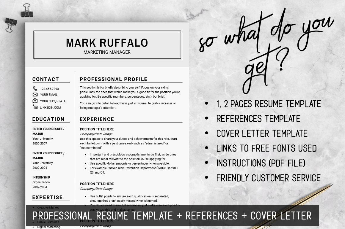 2 page resume template cv basic resume word resume man