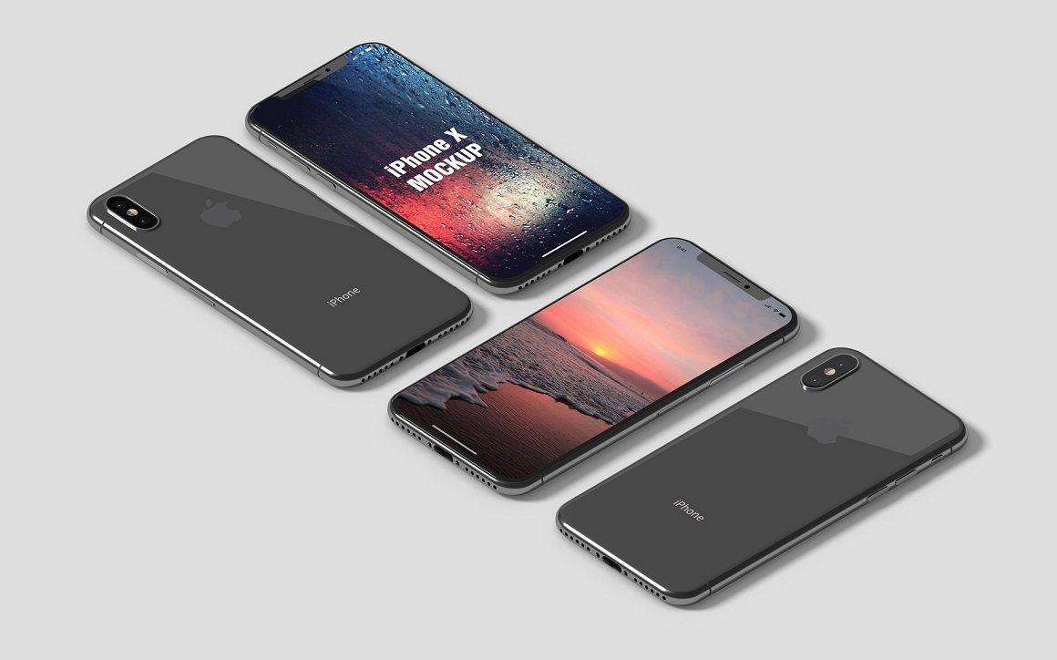 Download Iphone X Mockups Psd Yellow Images