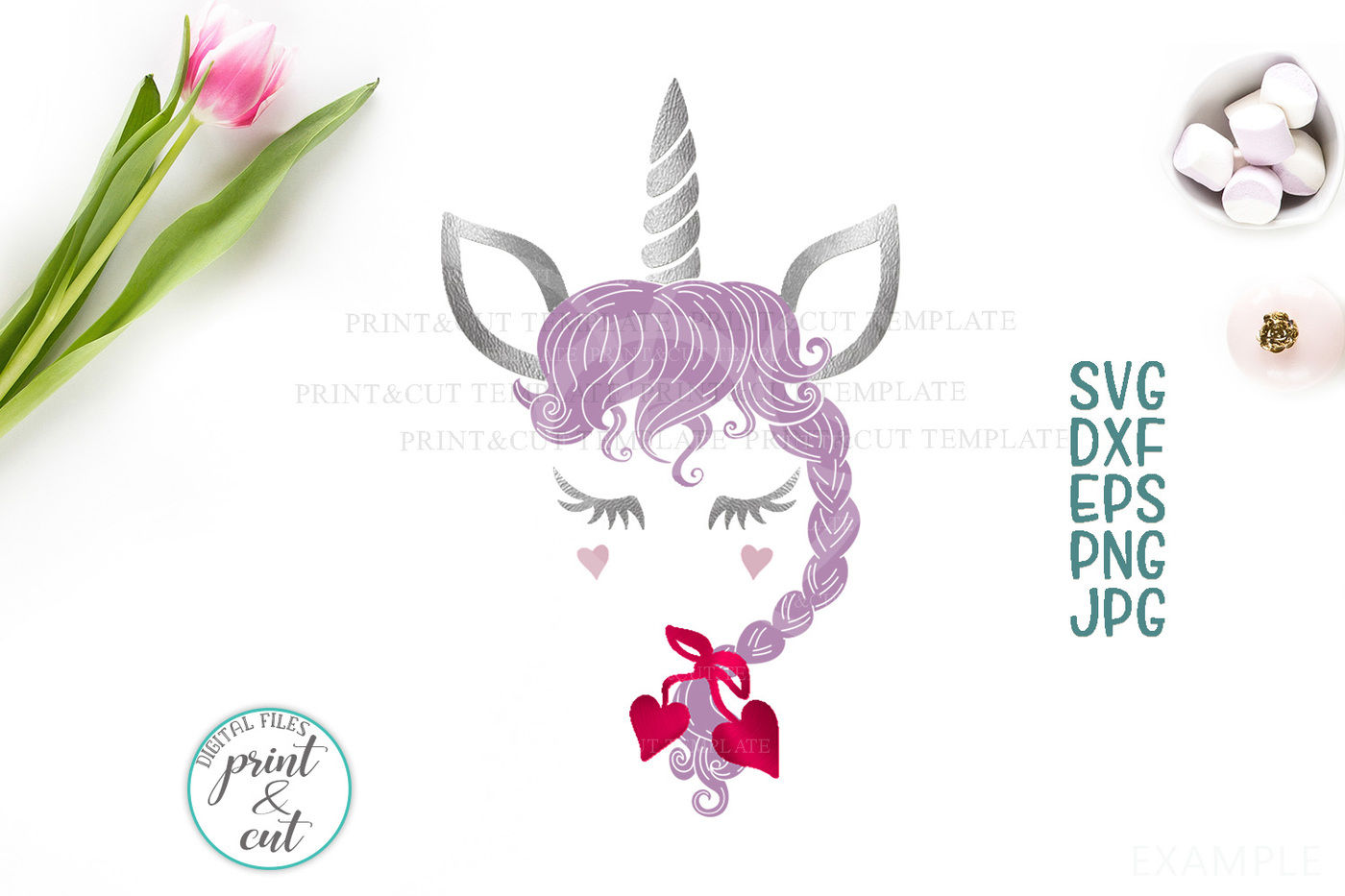 Valentines Day Unicorn Svg Valentine Unicorn Svg Unicorn Face