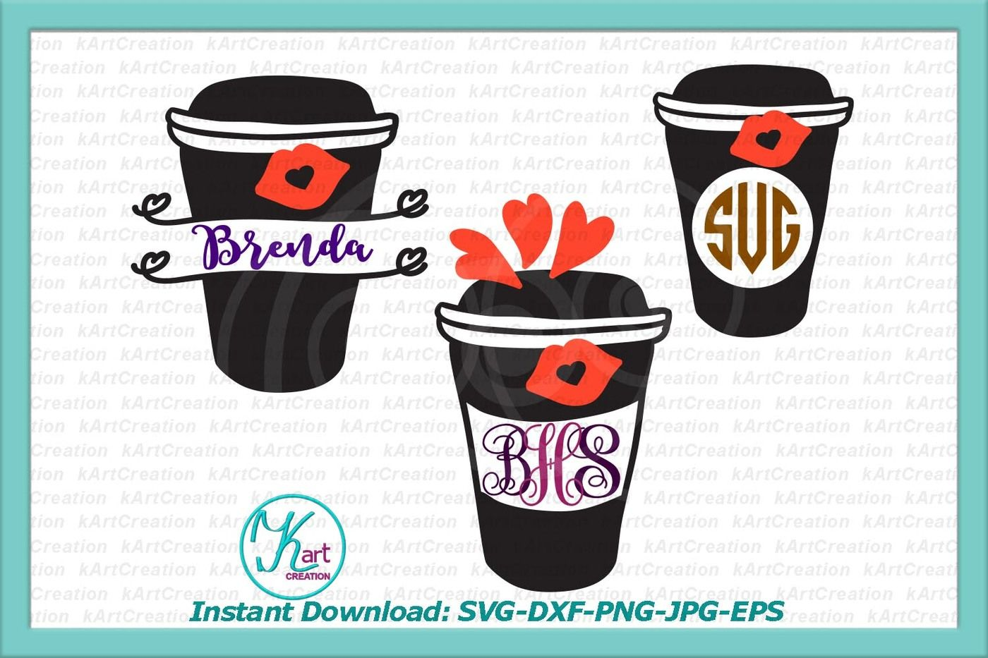 Monogram SvgSvg Mug File Coffee CxdeBro