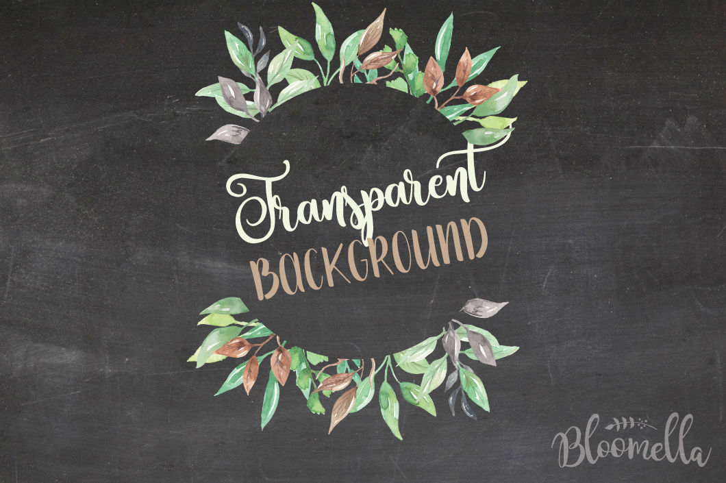 Watercolor Foliage Clipart Frames Png Files Greenery Leaves Leaf