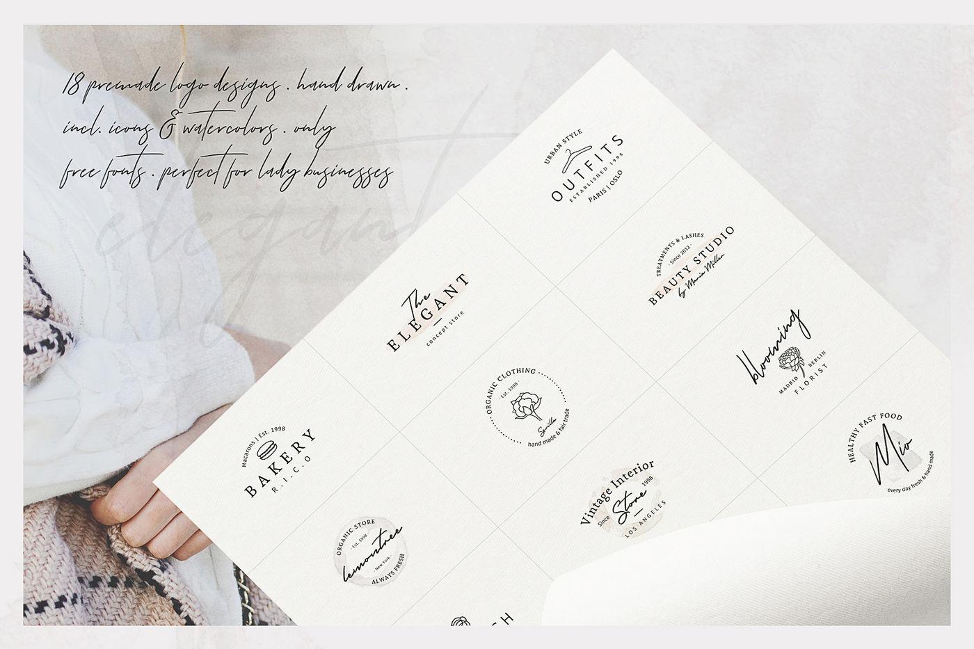 So Female Branding Kit Watercolours By Agatacreate