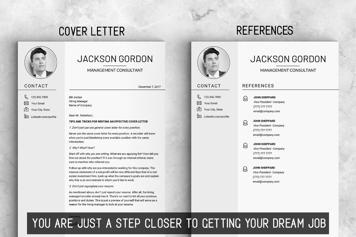 creative resume template instant download us letter resume
