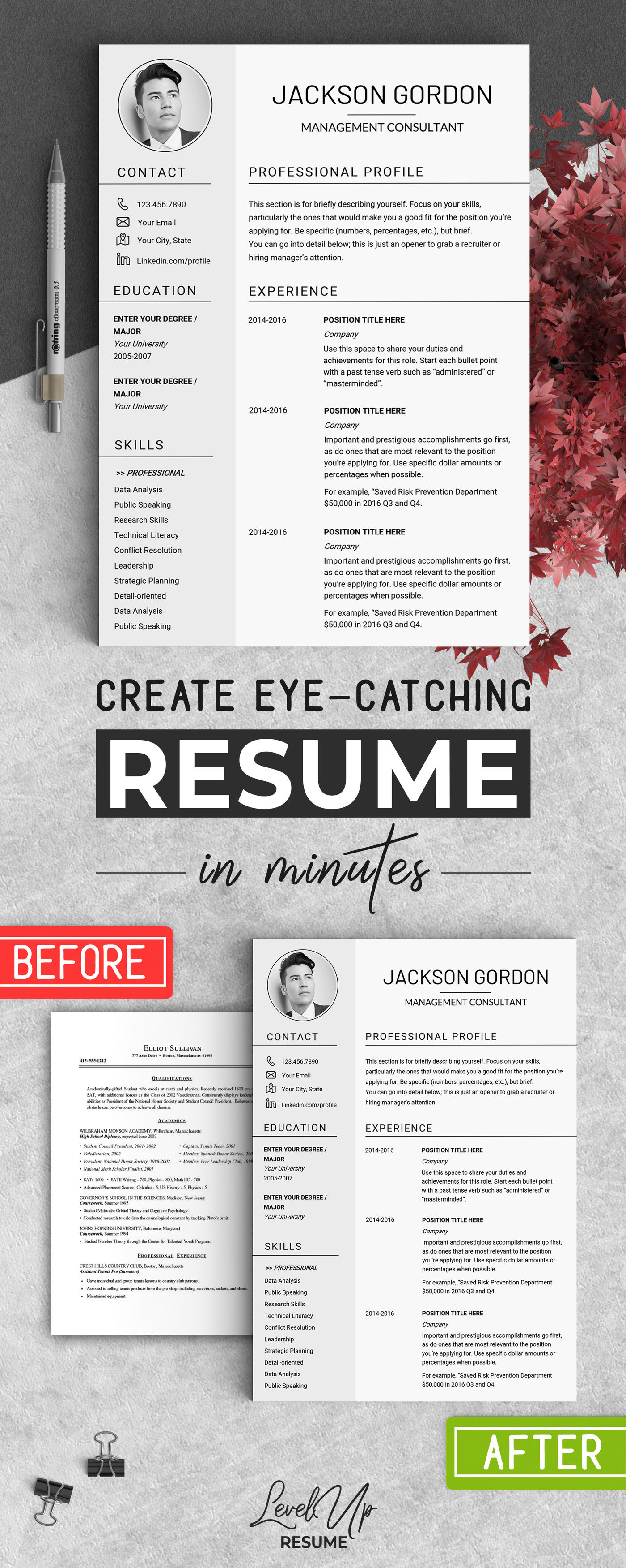Creative resume template Instant download US letter resume ...