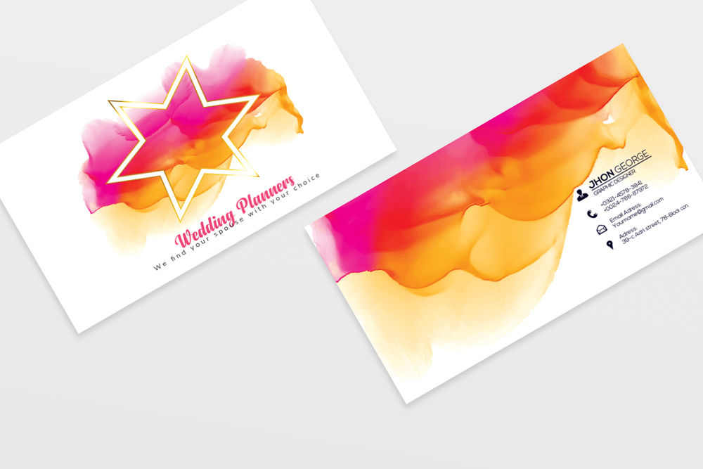 wedding planner's business carddesignhub