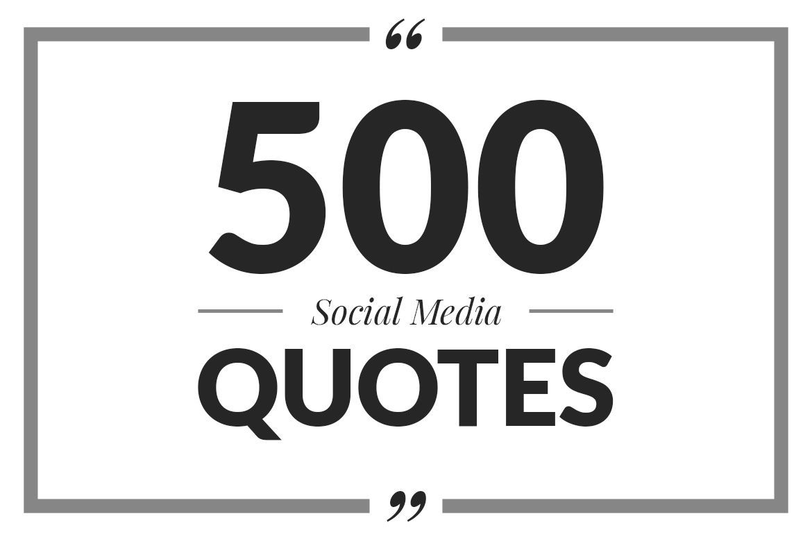500 Social Media Quotes By Web Donut Thehungryjpeg Com