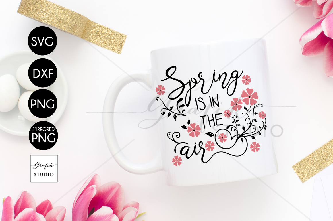 Spring Is In The Air Spring Svg Easter Svg Cricut Svg By Grafikstudio Thehungryjpeg Com
