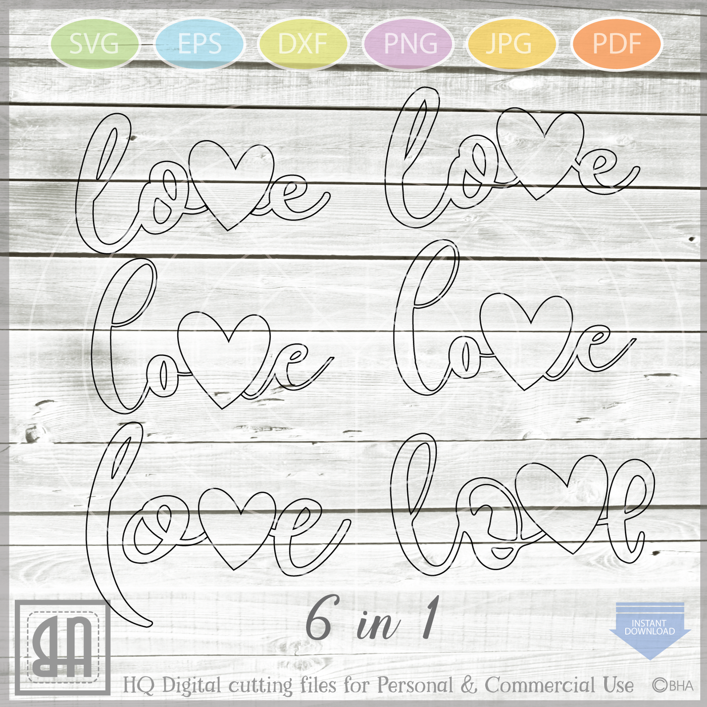 Love Svg Love Bundle Svg Valentine Svg Love Sign Svg File