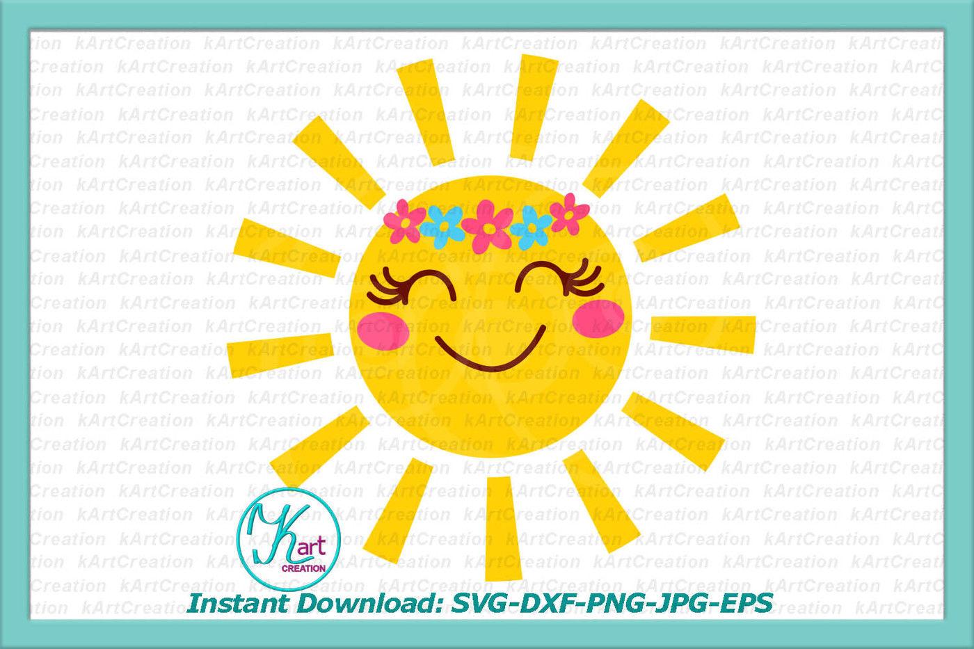 Sun Svg Smiling Sun Svg File Toddler Svg File Kids Svg Files By