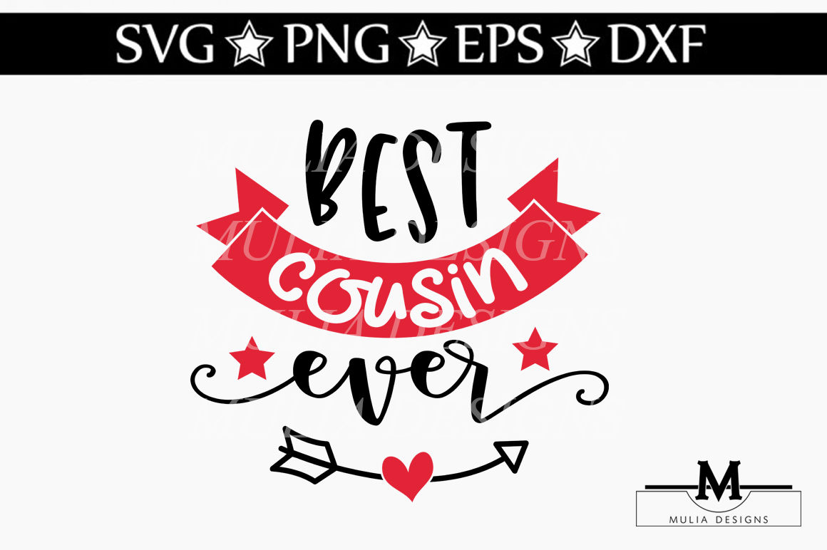 Best Cousin Ever Svg By Mulia Designs Thehungryjpeg Com
