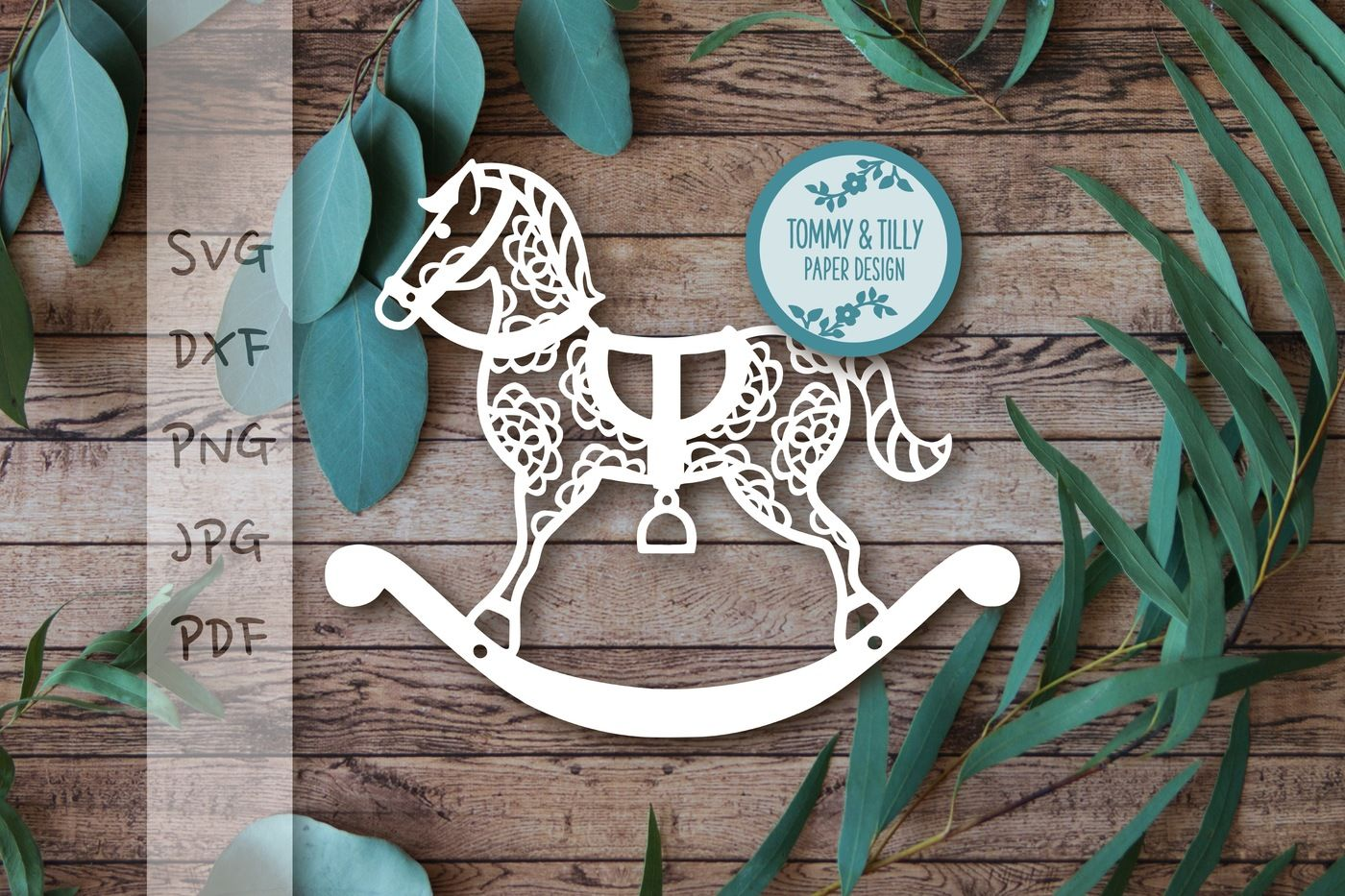 Rocking Horse X 3 Svg Dxf Png Pdf Jpg By Tommy And Tilly Design