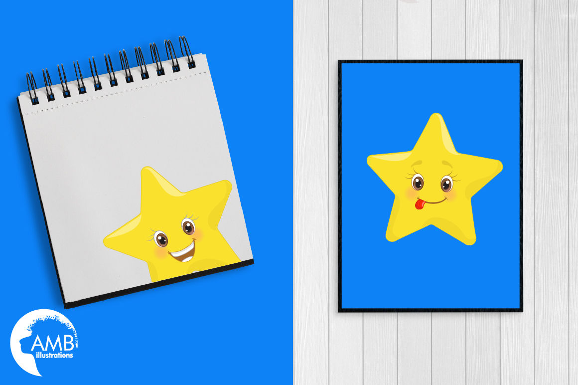 Star Emoticons Star Emoji Clipart Graphics Amb 1157 By